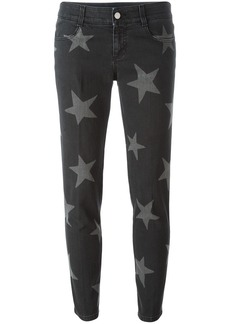 Stella McCartney 'Skinny Boyfriend' star print jeans - Black