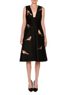 Stella McCartney Sleeveless Bird-Embroidered Dress