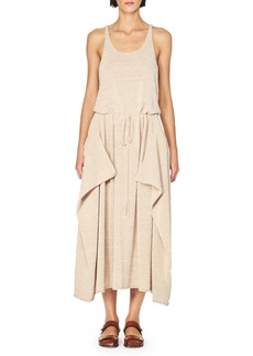 Stella McCartney Sleeveless Knit Drawstring Midi Dress