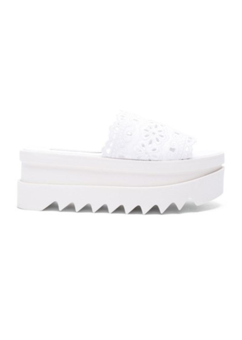 Stella McCartney Slide Lace Platform Sandals