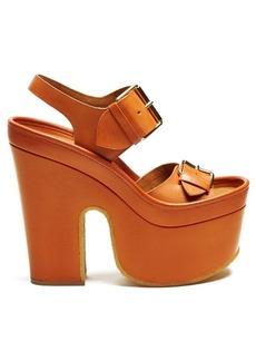 Stella McCartney Slingback faux-leather platform heels