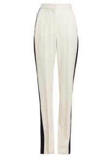 Stella McCartney Slit-ankle side-stripe wool trousers