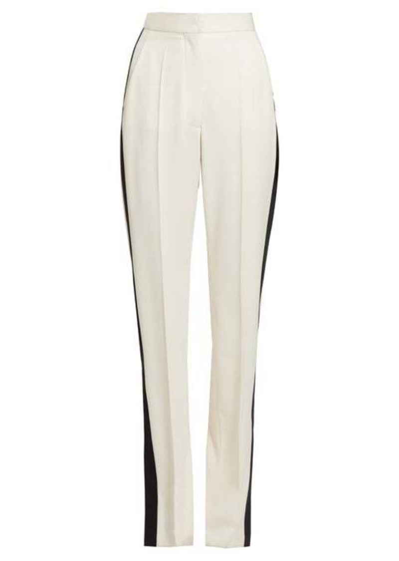 Stella McCartney Slit-ankle side-stripe wool trousers