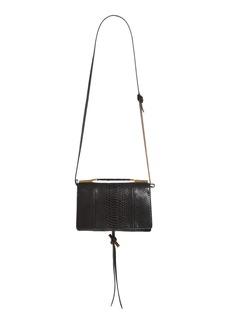 Stella McCartney Small Flo Alter Snake Faux Leather Shoulder Bag