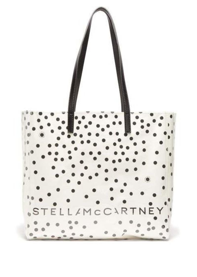 Stella McCartney Small PVC & polka-dot paper tote bag
