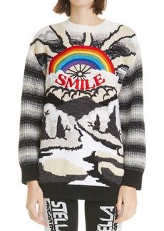 Stella McCartney Smile Intarsia Wool & Cotton Sweater