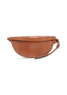 Stella McCartney Snake-effect faux-leather belt bag