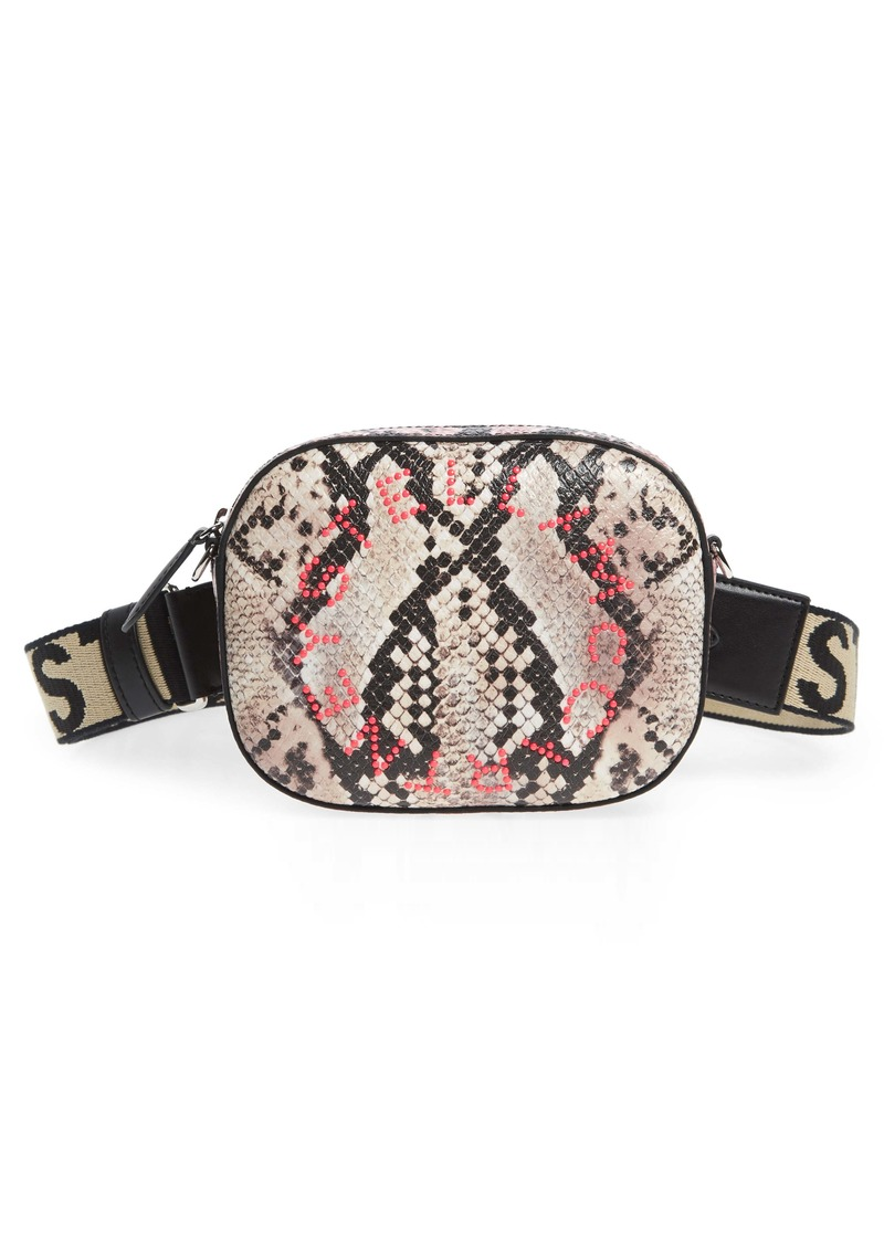 Stella McCartney Snake Print Faux Leather Belt Bag