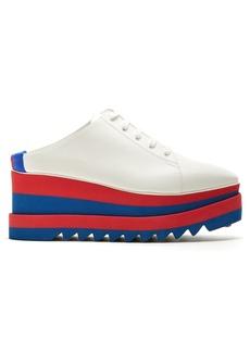 Stella McCartney Sneak-Elyse faux-leather backless trainers