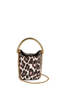 Stella McCartney Snow Leopard-Print Bucket Bag