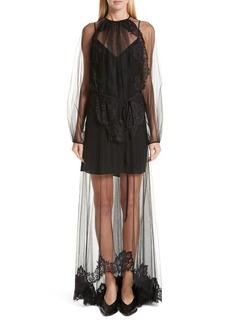 Stella McCartney Sophia Lace Overlay Maxi Dress