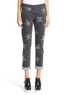 Stella McCartney Star Embellished Skinny Boyfriend Jeans