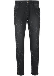 Stella McCartney star-embroidered boyfriend jeans - Black