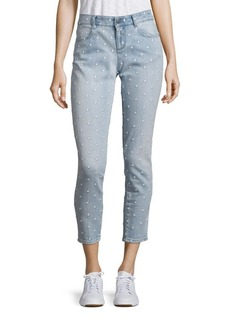 Stella McCartney Star Embroidered Skinny Jeans