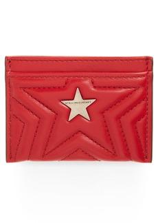 Stella McCartney Star Faux Leather Card Case