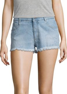Stella McCartney Star Outline Cut off Denim Shorts