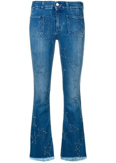 Stella McCartney star patch flare jeans - Blue