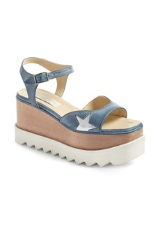 Stella McCartney Star Platform Wedge Sandal (Women)