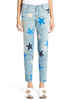 Stella McCartney Star Print Crop Boyfriend Jeans