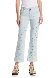 Stella McCartney Star-Print Cropped Jeans