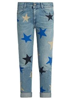 Stella McCartney Star-print low-slung skinny jeans