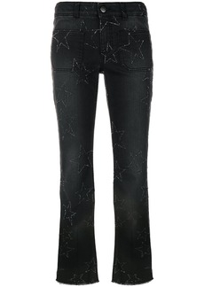 Stella McCartney star stitched crop flare jeans - Black