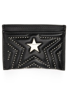 Stella McCartney Stars Faux Leather Card Case