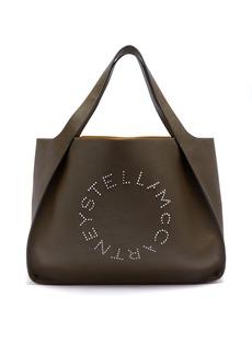 Stella McCartney Stella studded logo faux-leather tote bag