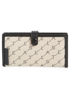 Stella McCartney Stitched Logo Continental Wallet