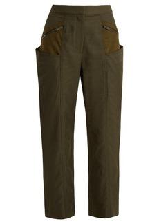 Stella McCartney Straight-leg contrast-panel cropped trousers