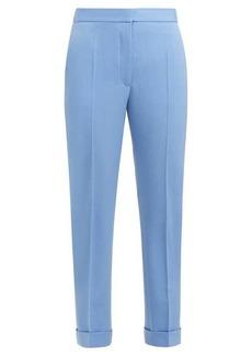 Stella McCartney Straight-leg cropped wool trousers