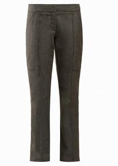 Stella McCartney Straight-leg wool and cotton-blend trousers