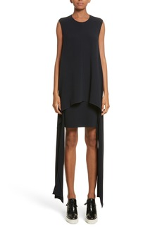 Stella McCartney Stretch Cady Sharkbite Hem Dress