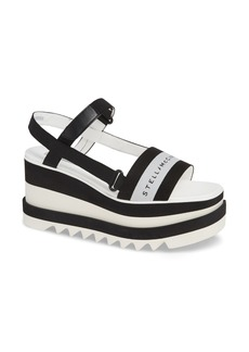 Stella McCartney Stripe Logo Platform Sandal (Women)