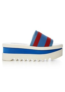 Stella McCartney Striped flatform slides