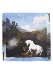 Stella McCartney Stubbs Horse Silk Scarf