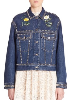 Stella McCartney Studded Embroidered Denim Jacket