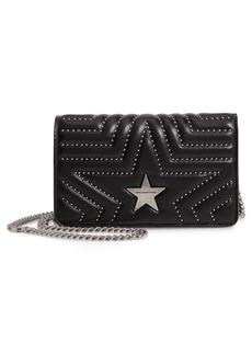 Stella McCartney Studded Faux Leather Shoulder Bag