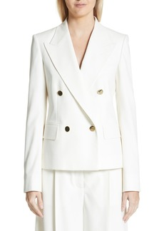 Stella McCartney Summer Twill Double Breasted Blazer