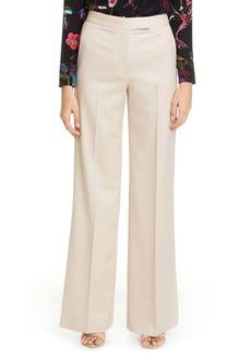 Stella McCartney Tab Front Wool Wide Leg Pants
