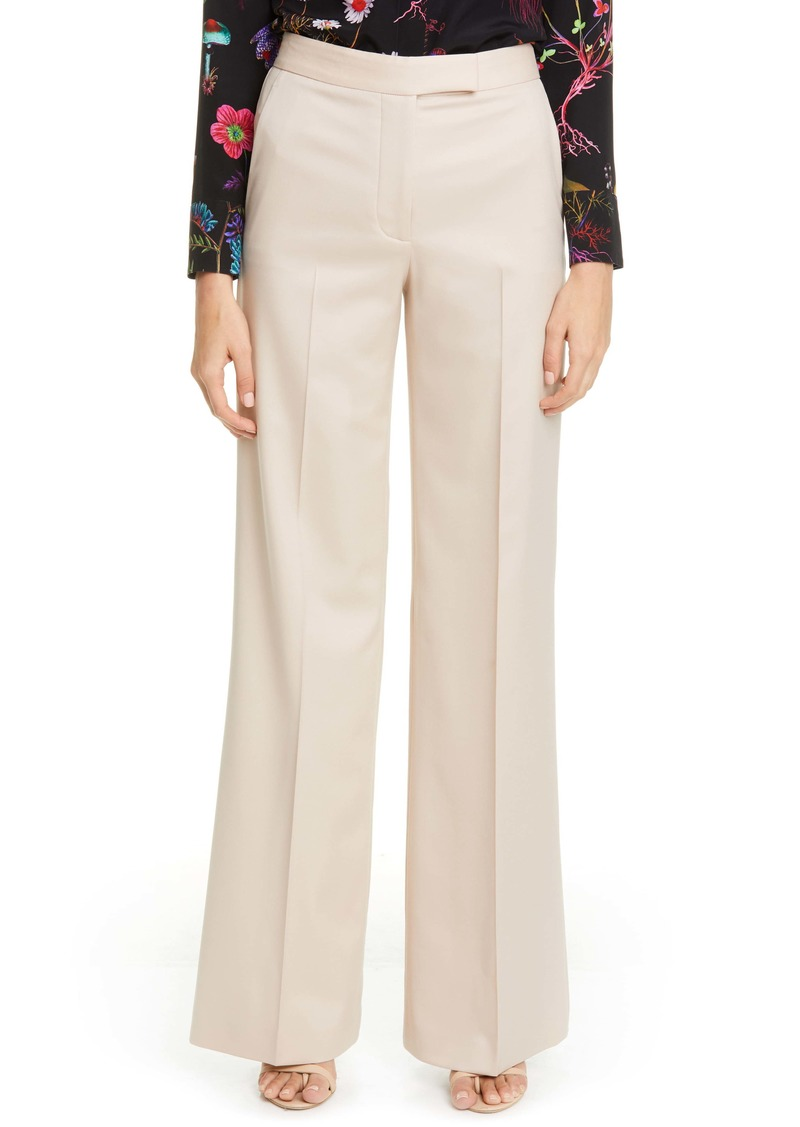 Stella McCartney Tab Front Wool Wide Leg Pants