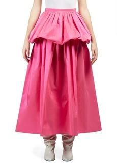 Stella McCartney Taffeta Ruffle Maxi Skirt
