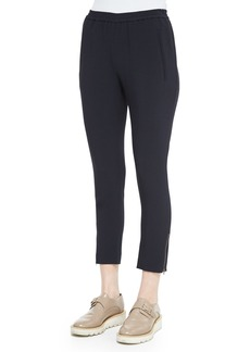 Stella McCartney Tamara Relaxed Tapered Track Pants with Elastic Waist