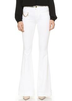 Stella McCartney The '70s Flare Falabella Chain Jeans