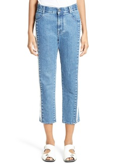 Stella McCartney The Boyfriend Frayed Seam High Waist Jeans