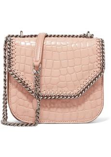 Stella McCartney The Falabella Box mini croc-effect faux leather shoulder bag