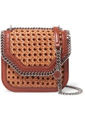 Stella McCartney The Falabella Box wicker and faux leather shoulder bag