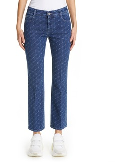 Stella McCartney The Skinny Kick Crop Flare Jeans