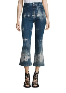 Stella McCartney Tie-Dye High-Rise Kick Flare Jeans
