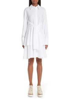 Stella McCartney Tie Waist Tiered Poplin Dress